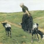 Max Liebermann, Frau mit Ziegen