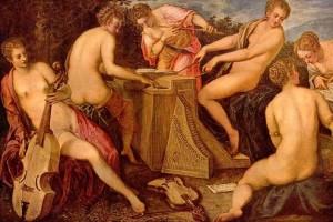 Tintoretto, Musizierende Frauen